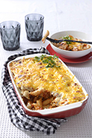Roast-Pork-and-tomato-Rigatoni-Pasta-Bake